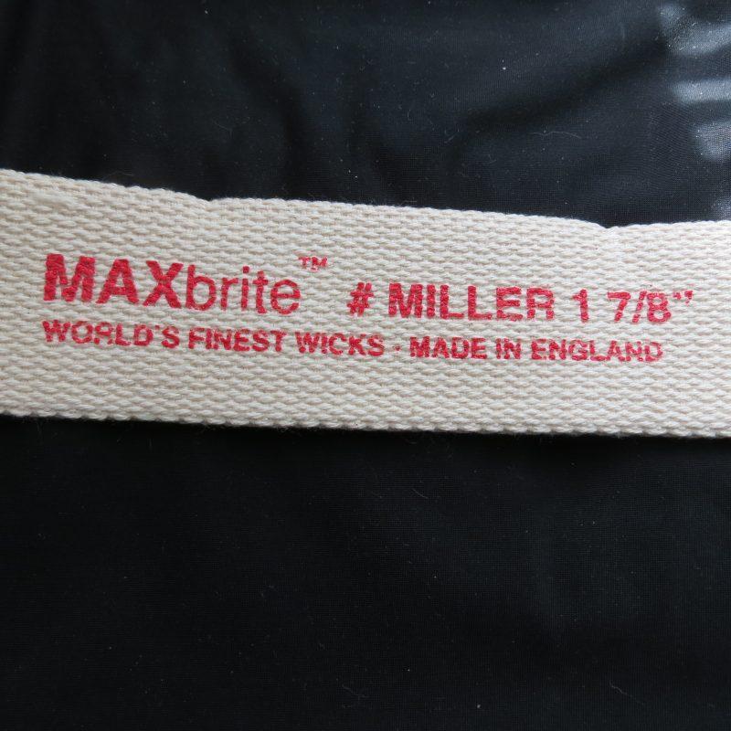 """1 7/8"""" #1 MAXbrite Miller Round Wick-9888"""