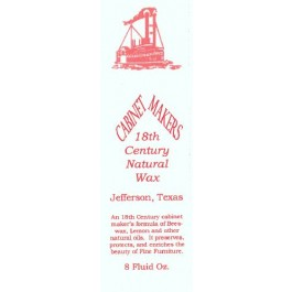 CABINET MAKERS NATURAL BEESWAX Furniture Polish
