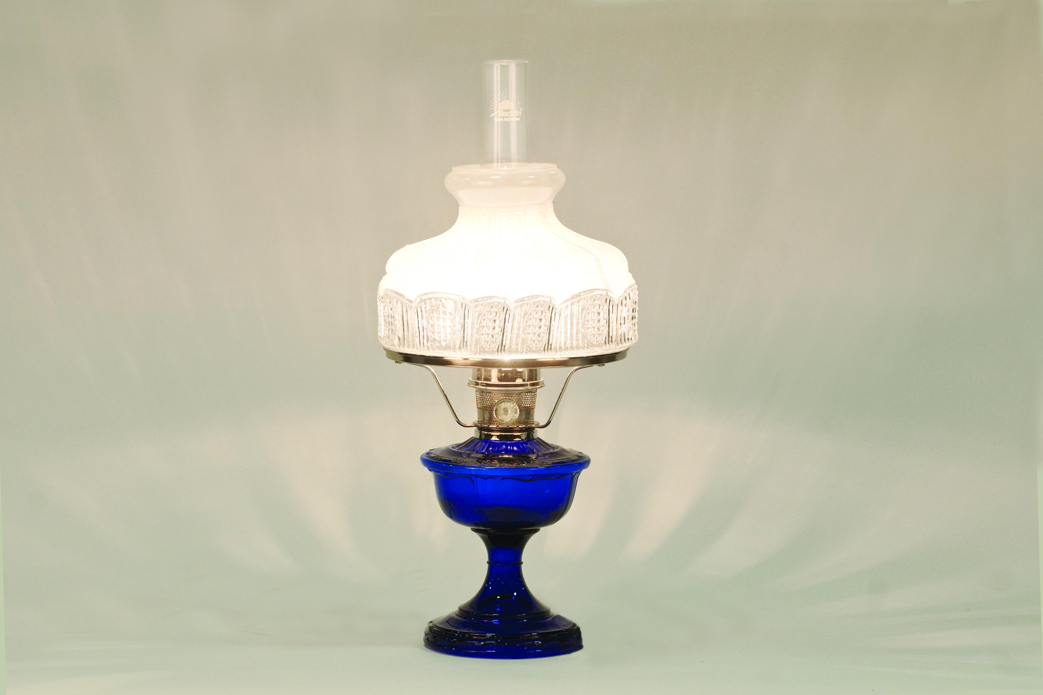 Vb2312n 5019r Aladdin Alexandria Cobalt Nickel Hdwr Lamp