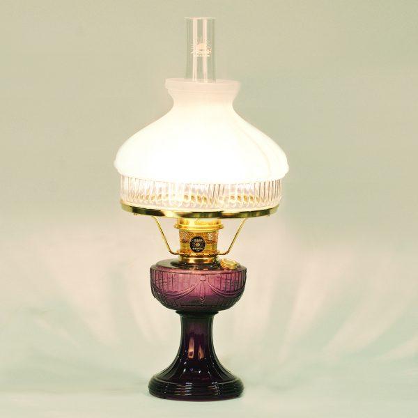 Aladdin lamps co aladdin lamps mantles shades parts c6183b 601 aladdin amethyst sld brass hdwr lamp 601 shade aloadofball Gallery