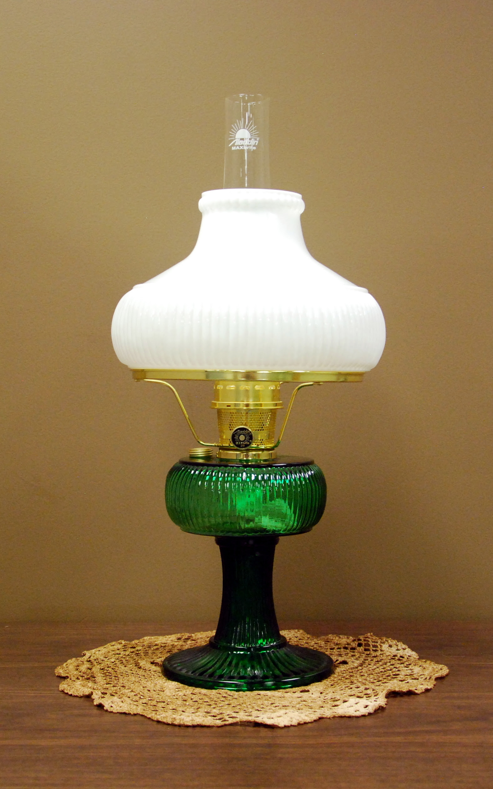 Aladdin lamps co aladdin lamps mantles shades parts gv green brass sold out geotapseo Image collections